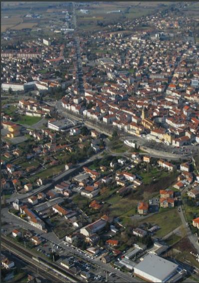photographie aérienne de Saint-Gaudens
