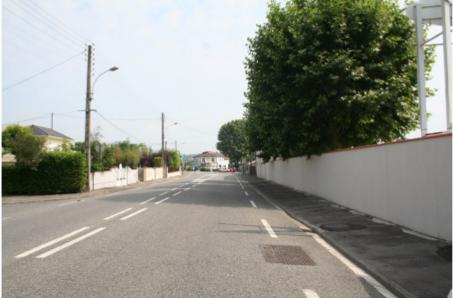 photographie de la partie Nord de l'avenue de L'Isle