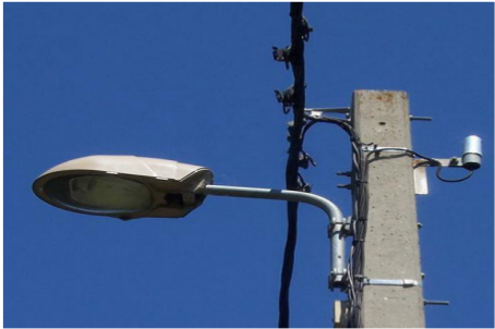 Photographie : vieil appareillage d'éclairage public