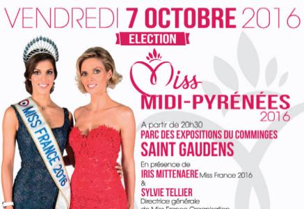 affiche Miss Midi-Pyrenées 2016