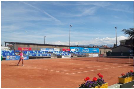 photographie : Tournoi international de tennis féminin d'avant Roland Garros