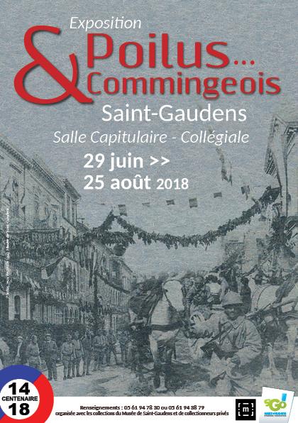 expo «Poilus … et Commingeois !» – visite du carré militaire