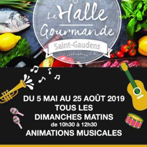 Animations musicales à la Halle Gourmande