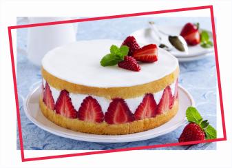 Image gateau aux fraises