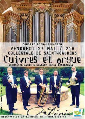 Affichette concert cuivres et orgue à la collégiale