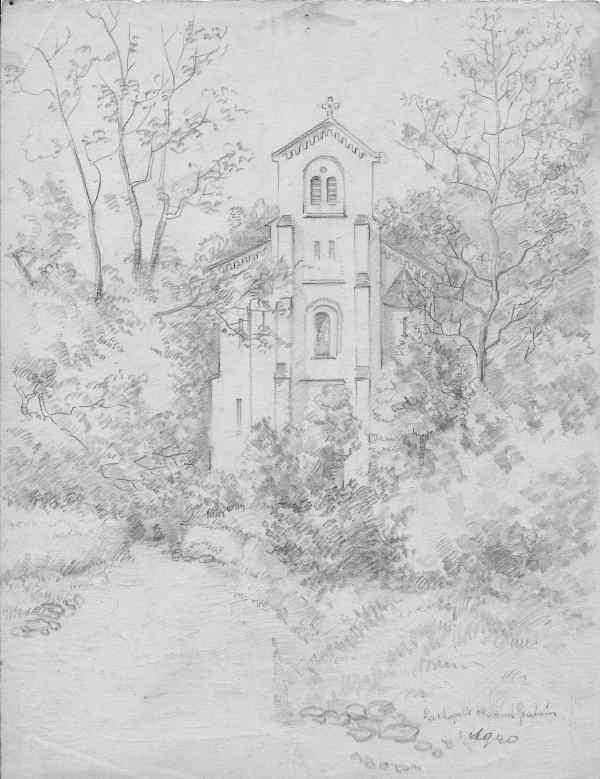 Dessin de la chapelle datant de 1940