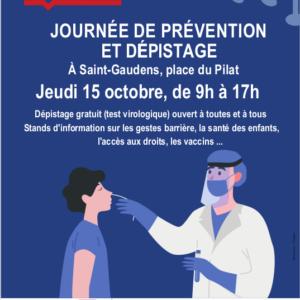 COVID-19 : JOURNÉE DE PRÉVENTION ET DEPISTAGE