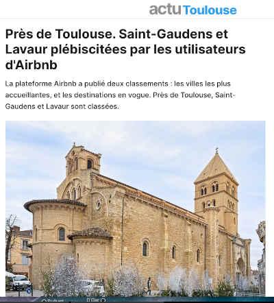 Capture d'écran de l'article d'Actu Toulouse
