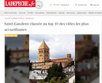 Capture d'écran de l'article de La Dépêche du Midi
