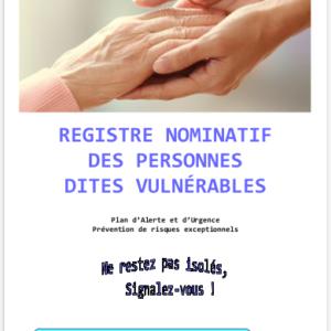 Registre Nominatif des Personnes dites Vulnérables