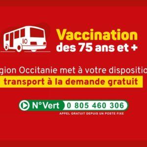 Vaccination : Transport à la demande gratuit