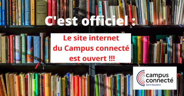 Le site internet du Campus Connecté est ouvert !!!