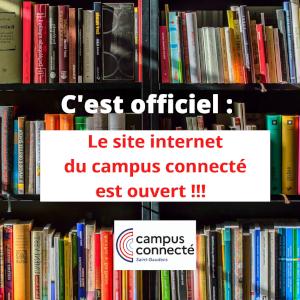 Le Campus Connecté a son site internet