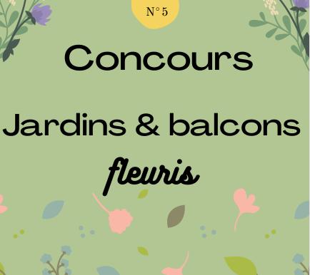 Concours Jardins & balcons fleuris