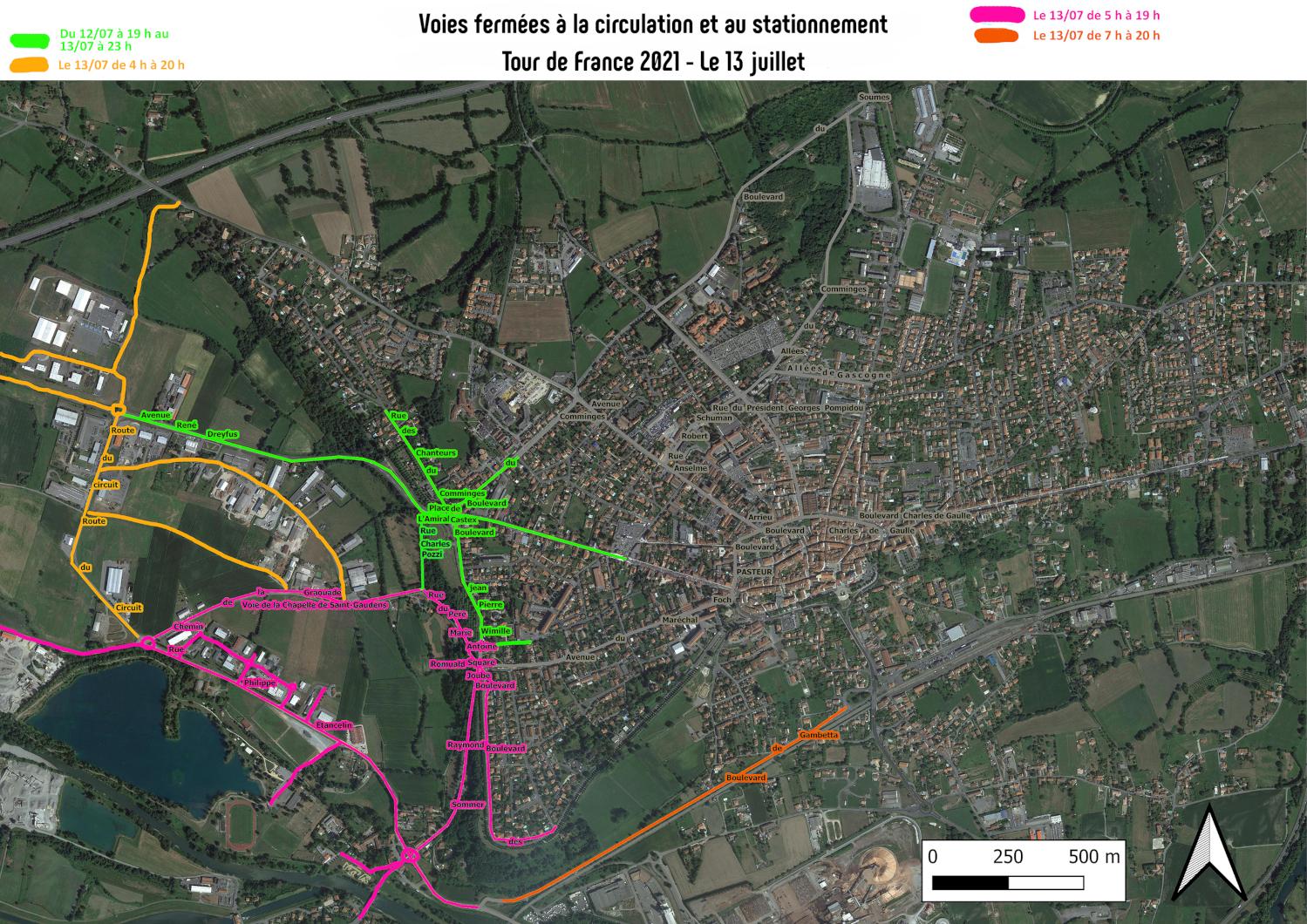 Plan de circulation 13 juillet