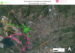 Tour de France – Plan de circulation des 13 et 14 juillet 2021