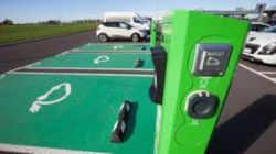 Photographie d'une borne de recharge pour véhicules électriques