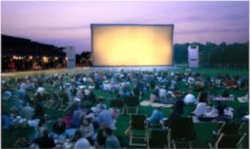 Photographie d'un écran géant lors d'un festival